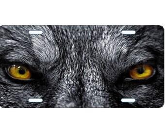 License Plate Custom Car Tag Wolf Eyes