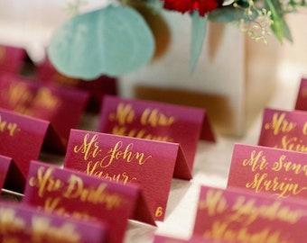 Wedding Place Cards - Wedding Escort Cards - Paper Place Cards - Calligraphy Place Cards - Custom Place Cards - Wedding Calligraphy