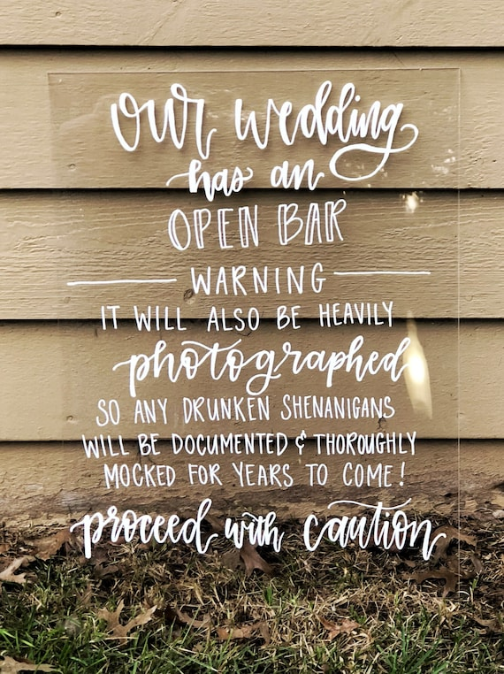 Navy Blue Burlap /& Lace Effect Alcohol Bar Love Story Personalised Wedding Sign