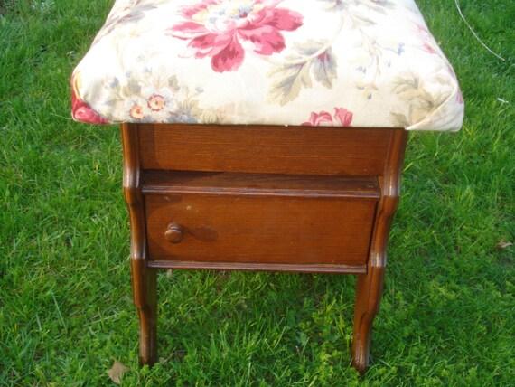 Antique Eastlake Upholstered Hinged FOOTSTOOL / STORAGE | Etsy