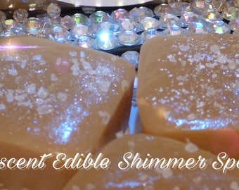 Pink Diva Soft Caramels Himalayan salt with iridescent edible shimmer ~ Box of 32 extra creamy, old fashioned, Salted homemade caramels