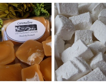 Caramallow ~ Box of 32 extra creamy, old fashioned, homemade marshmallow soft caramels