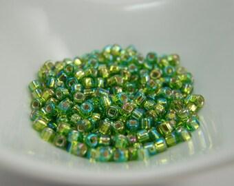 Silver Lined Rainbow Light Green