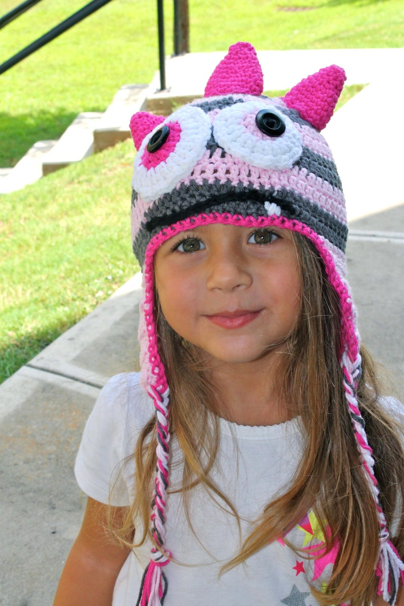 c016b141940 Monster Crochet Hat Crochet Monster Hat Baby Shower Gift First