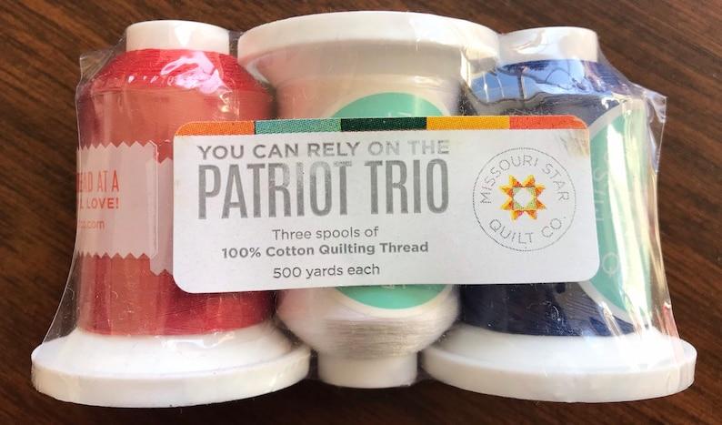 Missouri Star Brand Patriot Trio Cotton Thread Spools