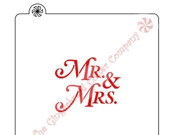 Mr Mrs Cookie Stencil