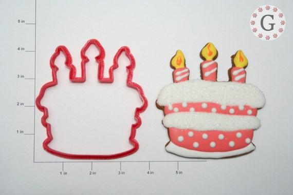 Pleasant Birthday Cake Cookie Cutter Etsy Funny Birthday Cards Online Hendilapandamsfinfo