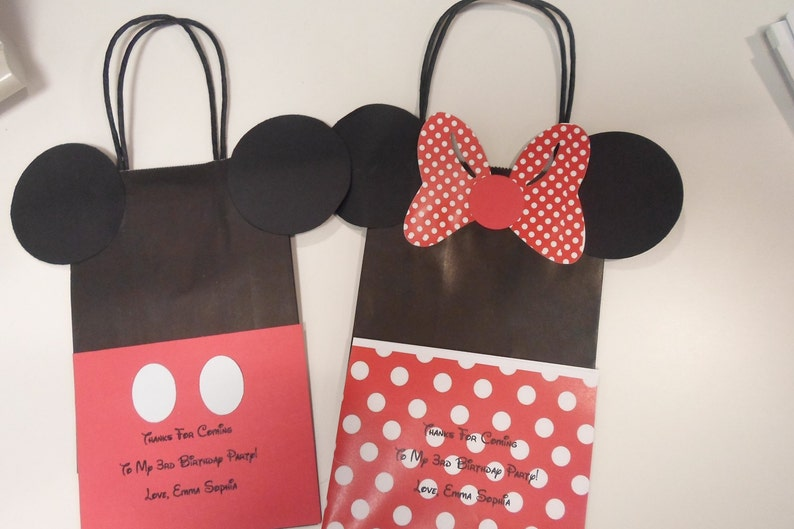 Minnie Mickey Mouse Birthday Treat Bags Loot Goodie Playhouse Disney
