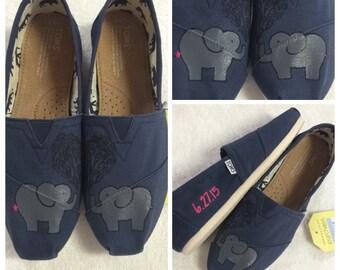 Custom Painted Elephant Toms
