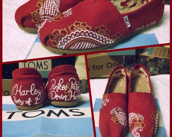 Custom Painted Henna Toms