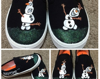 Custom Painted Youth Olaf 'Frozen' Shoes