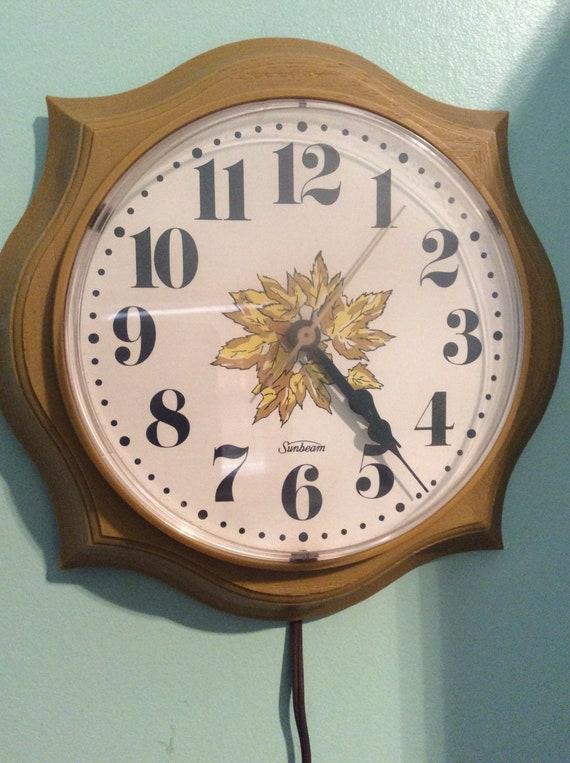 Sunbeam Gold Electric Clock/ Retro Kitchen Clock | Etsy
