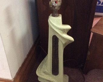 Light green Vintage/Chalk Lamp/Plasto MFG CO