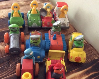 Vintage Sesame Street Muppets play cars/Set of 10 Muppets cars/Collectable Muppet toys