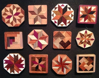 Wood Quilt pins, Special 12 pack