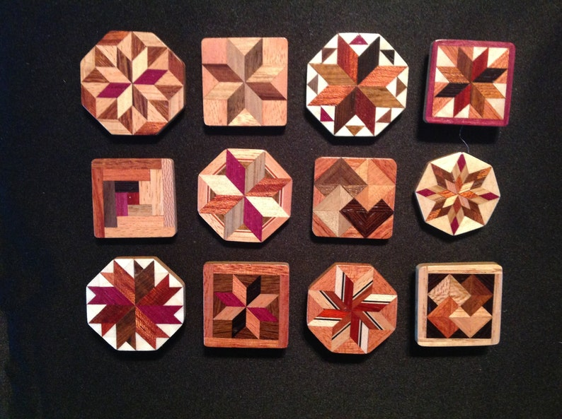 Wood Quilt pins 3 pack