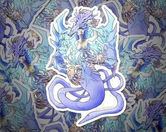 Breaking Free from the Dragon — Cyberpunk Mecha Art | Die Cut Sticker | Decal | Vinyl + Waterproof | Mecha | Robot | Anime
