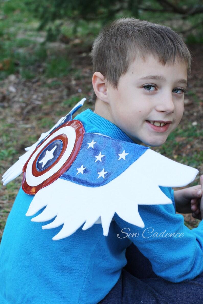 America Hero Wings ~ Captain Wings ~ Marvel Wings ~ American Eagle Wings ~ USA Costume ~ Avenger Wings