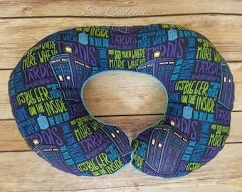 Travel Neck Pillow ~ Tardis Pillow ~ Dr Who Pillow ~ 12th Doctor Pillow ~ Plane Neck Pillow ~ Road Trip Pillow ~ Whovian Pillow ~ Twelvth