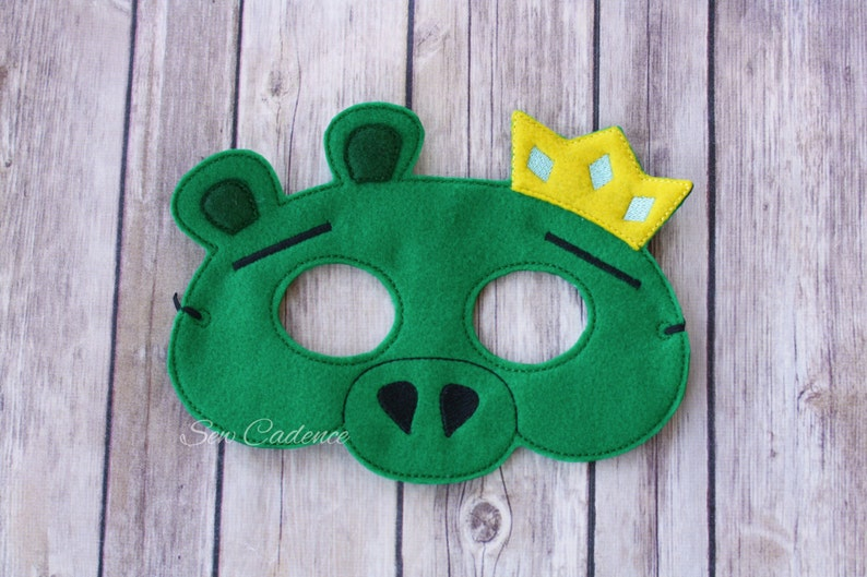 Angriest Birds Masks ~ Angry Red Bird King Pig Angry Pink Bird