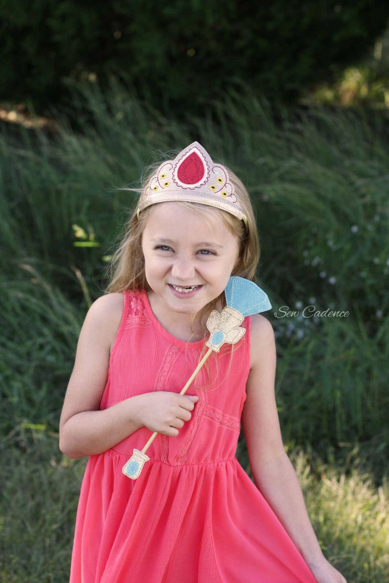Avalor Princess Tiara Comb ~ Scepter Wand /& Flower Headband Set ~ Elena of Avalor Princess Crown ~ Princess Costume Tiara ~ Princess Hair
