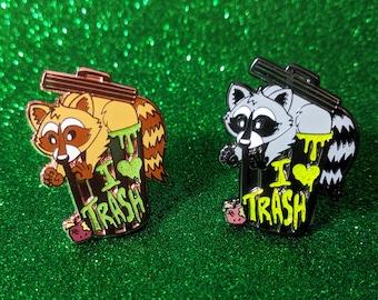 Hard Enamel Pin Raccoon Trash Friend!