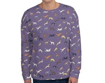 Hounds Abound Greyhound Pattern Unisex Sweatshirt