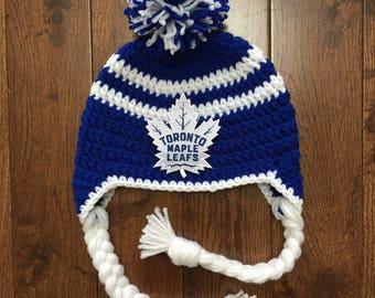... norway new logo toronto maple leafs crochet hat with nhl patch photo  prop newborn adult made 8f5ec993af94