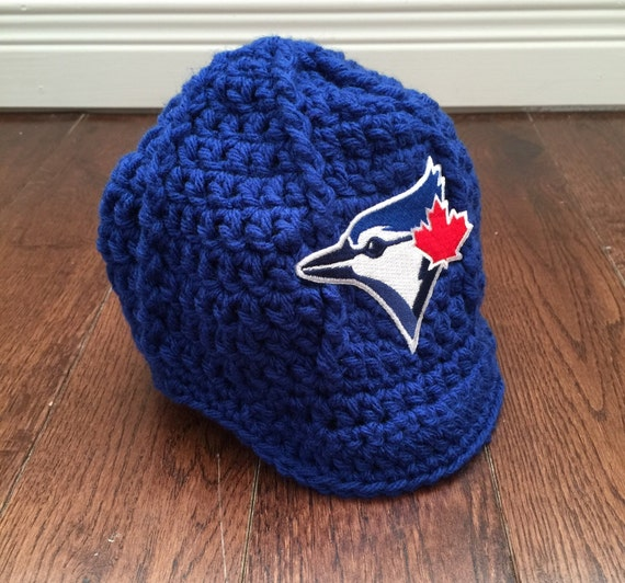 c396de18d ... toronto blue jays newsboy hat with mlb patch crochet baseball etsy