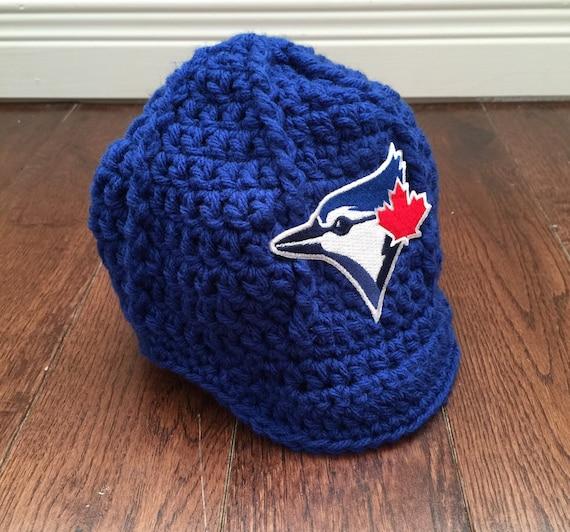 Toronto Blue Jays Newsboy Hat with MLB Patch Crochet Baseball  69d698a8d574
