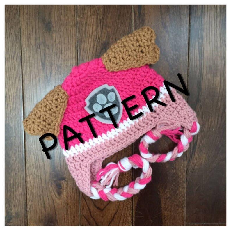 03b68048557 Instant PDF Download Paw Patrol Skye Crochet Hat Pattern