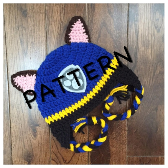 9a54e6ae51a Instant PDF Download Paw Patrol Chase Hat Pattern