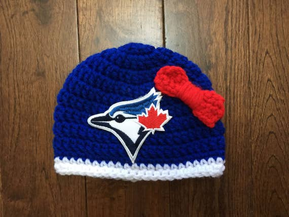 best website 207a0 47116 ... coupon code for toronto blue jays beanie hat with mlb patch crochet  baseball etsy ff31b 22ff7