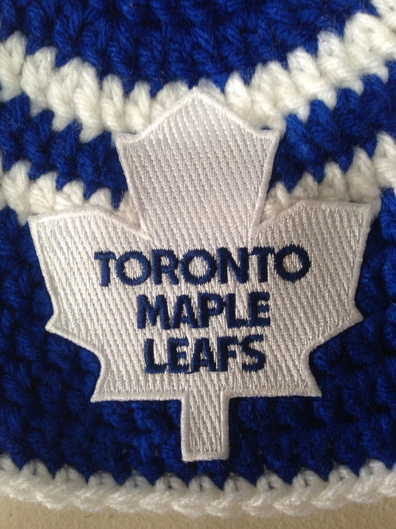 4e9f93724 Handmade Toronto Maple Leafs Crochet Hat with NHL Patch/ Photo Prop  (newborn-adult: made to order)