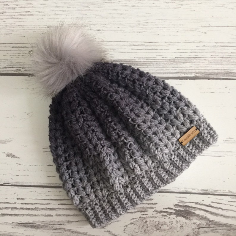 ec25e6dfcb2 The Lakeside Beanie Hat with Light Grey Faux Fur Pom Pom