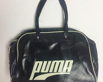 f09d3ed054e Vintage 90's Puma Gym Bag Black