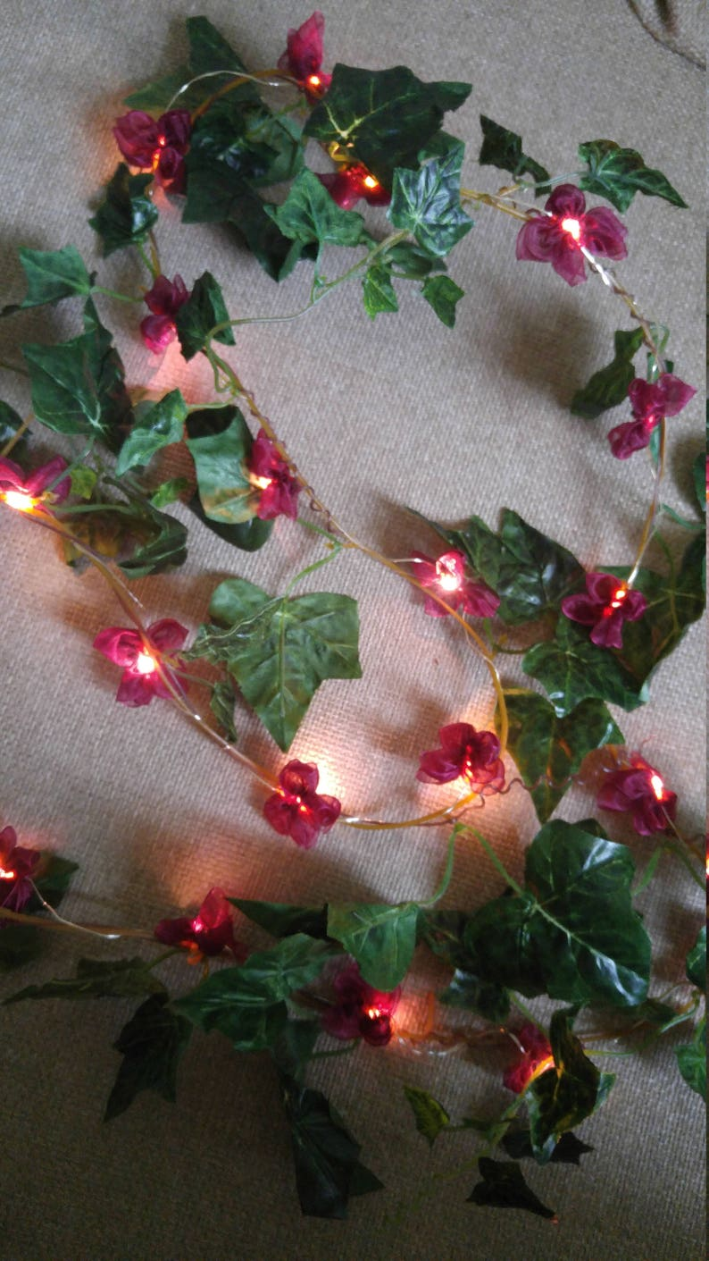 String Lights Ivy Leaves Fairy Lights Wedding Decoration Led Garland Lights  Holiday Lights Bedroom Decor Flowers Lights Garland
