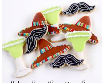 Half Dz. Mexican Themed Cookies! Cinco De Mayo, Mexican, Fiesta, Alcohol