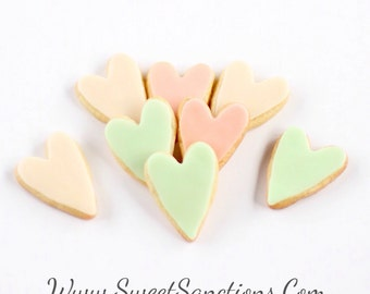 1 Dz. Mini Oblong Heart Cookies! Simple and Sweet to show someone how much you Care! Valentime's Day
