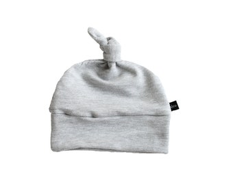 e7ee582bd99 heather gray knotted beanie
