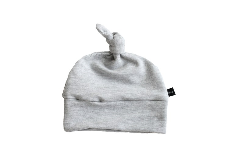 fbd296368b1 Heather gray knotted beanie beanie hat for babies toddler