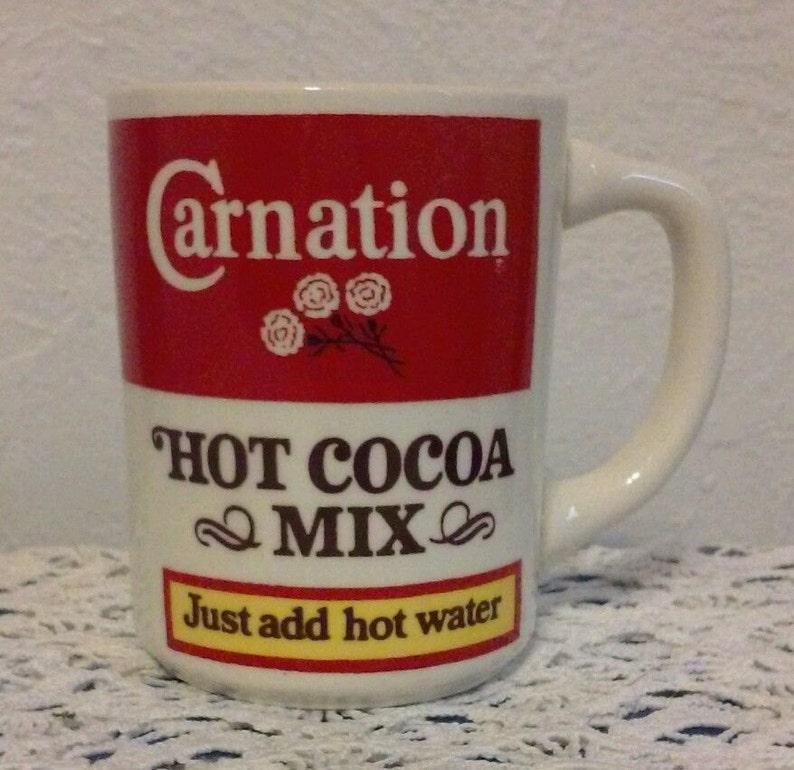 Vintage Carnation Hot Cocoa Mix Mug Hot Chocolate Just Add Etsy