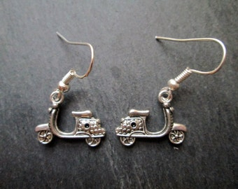 Vespa Motor Scooter Charm Earrings