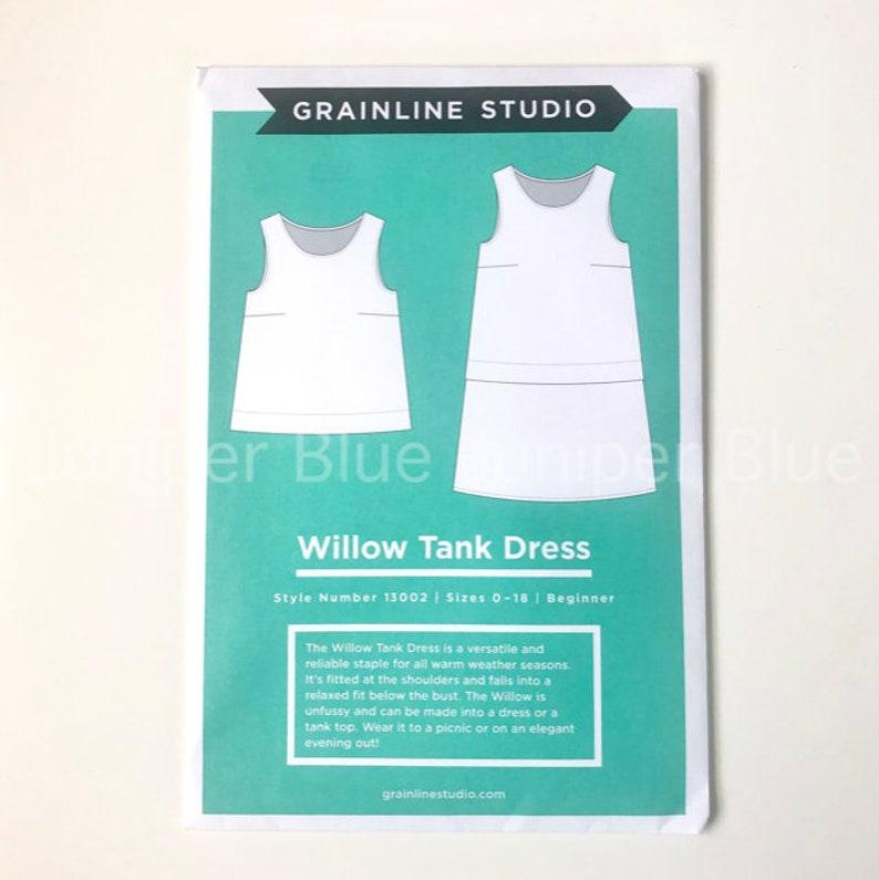 Beginner Pattern Willow Tank Dress Sizes 0-18 Grainline Studio