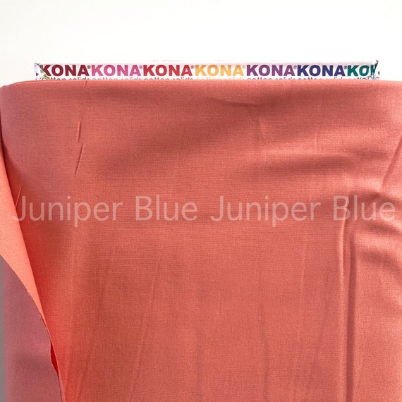 Quilting Weight Cotton Fabric Kona Cotton Solids Collection Robert Kaufman Coral