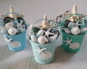 beach decor beach pail beach christmas ornament coastal decor beach house decor nautical decor coastal ornament beach home decor - Coastal Themed Christmas Decorations