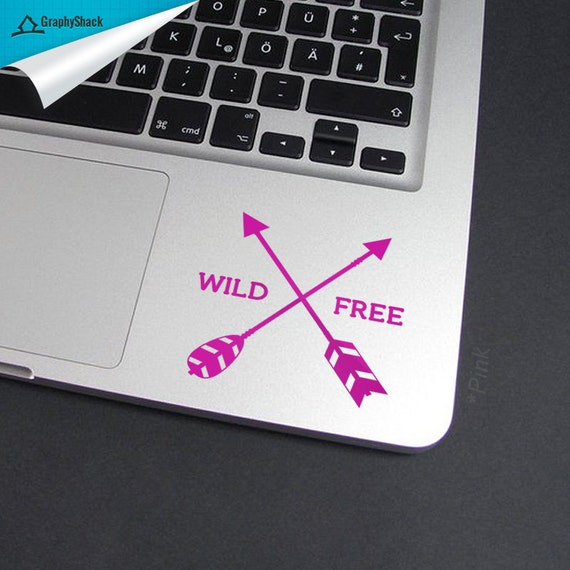 Wild And Free,Mac Decal, Trackpad Decal, Arrows,Arrow Decal,Arrow  Sticker,Arrows Mac Decal,Wild Free Decal,Inner Decal,Inside Decal