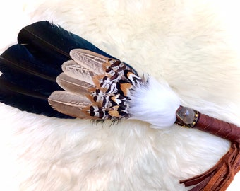 Authentic Native American South Dakota smudging feather Christmas
