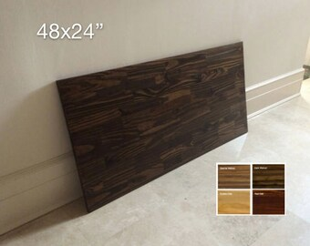 48x24 Spruce Wood Table Top, Tabletop, Wood Desk Top, DIY Table, Desk Top. Made to Order. 4 COLORS AVAILABLE.  Free Shipping!
