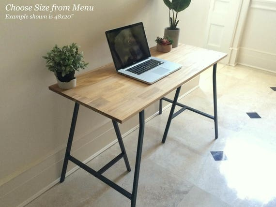 Long Home Office Desk With Ikea Legs Ships Free